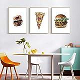 Rudxa Essen Pizza Poster und Druck Hamburg Kunst Leinwand