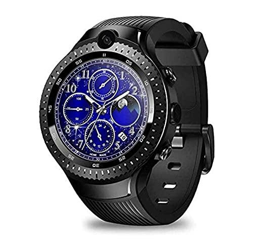 YQCH SmartWatch 1.4 Pulgadas Dual CÁMARA 4G Bluetooth Smart Watch COMOURIO DE CALORIA con Monitor DE SUEÑO Monitor DE Fitness Rastreador Podómetro Teléfono Deportivo Reloj de teléfono