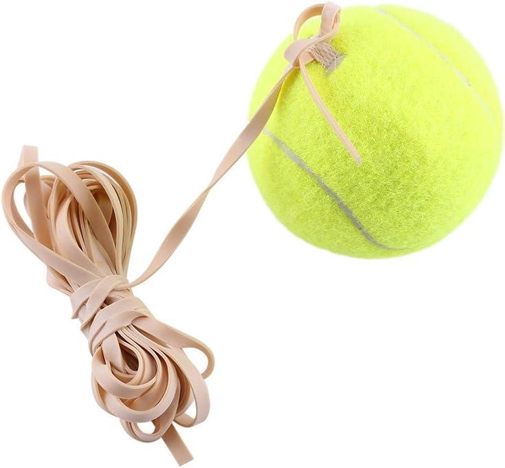 EVTSCAN Pelota de Entrenamiento de Tenis, Entrenamiento de Pelota de Tenis Entrenador de Tenis con Cuerda de Goma de Alta Elasticidad Práctica única