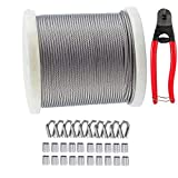 TooTaci 400Ft/122M Cable Aircraft Wire Rope, Wire Balustrade Kits for Decking - T316 Stainless Steel