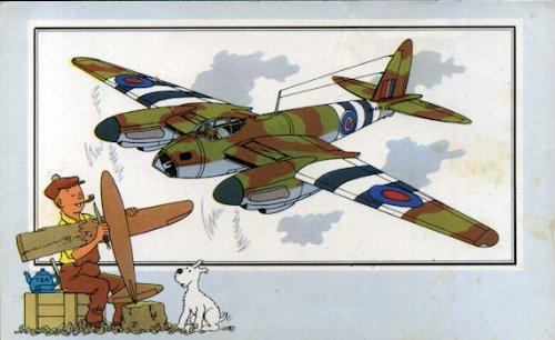Chromos Voir et Savoir - L'Aviation - Guerre 1939-1945 - Série 2 - n° 36 - De Havilland \