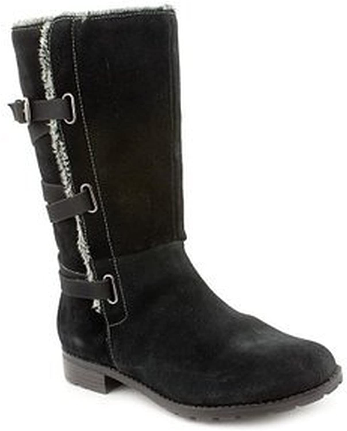ISO Mischa Womens Size 7.5 Black Suede Fashion Mid-Calf Boots