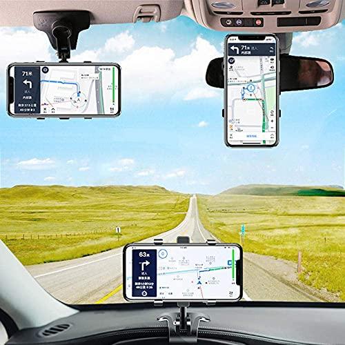 NOVHOME Soporte para teléfono para automóvil, Soporte para teléfono para automóvil Soporte para teléfono móvil Soporte en el Tablero del automóvil Espejo retrovisor Sombrilla Deflector SOP