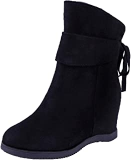 IFOUNDYOU 2020 New Ladies Boots Size 6 Black, Women Flock