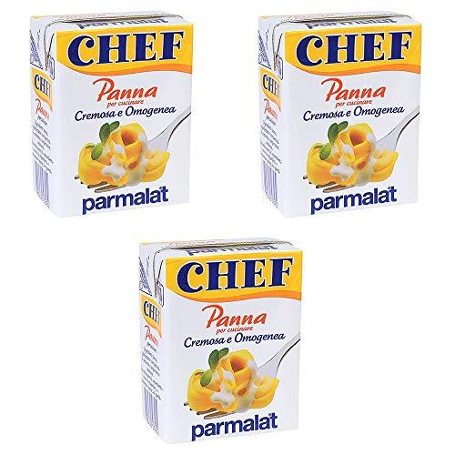 3x Parmalat Panna chef Sahne per cucinare Kochcreme creme fur Koch 500ml