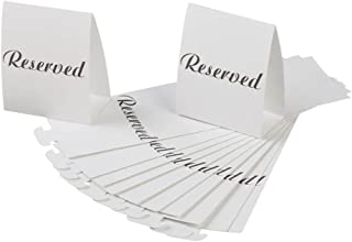 Darice VL2017 Reserved Table Tent Card, Black/White, 12-Pack