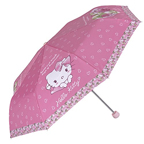Perletti - Paraguas Hello Kitty niña - Plegable antiviento