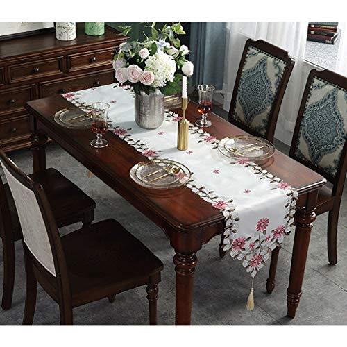 Tischfahne Table Runner Pastoral Couchtisch Porch Hollow Konferenztisch ZHJING (Size : 40 * 250CM)