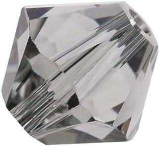 100pcs Authentic 3mm Small Swarovski Crystals 5328 Xillion Bicone Crystal Beads for Jewelry Craft Making (Black diamond) SWA-b321