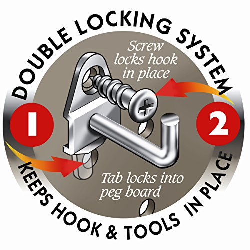 Triton Products 76666 DuraHook 9-Inch Wide with 3/4-Inch I.D. Zinc Plated Steel Multi-Ring Tool Holder for DuraBoard or 1/8 Inch and 1/4 Inch Pegboard, 2-Pack