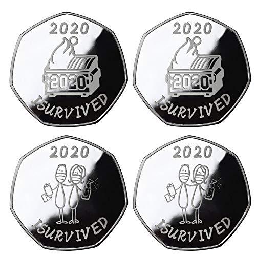 jieGorge Moneda Conmemorativa de supervivientes 2020 Moneda