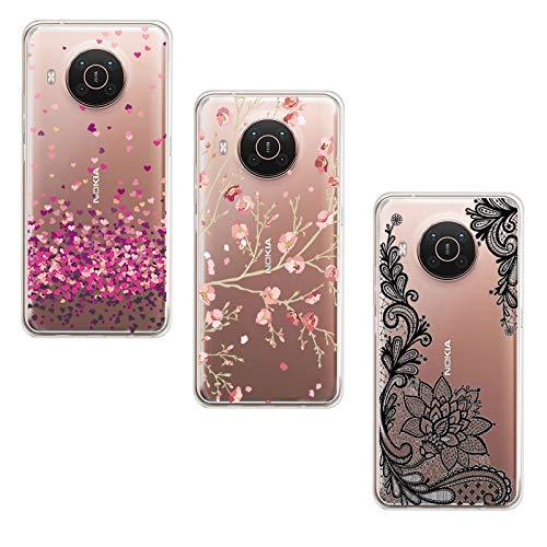 JIENI Cover per Nokia X10 (6.67') Custodia, Trasparente Silicone Custodie Protettivo Morbido Shell Cartoon Case TPU Guscio Copertura - WM84+85+108