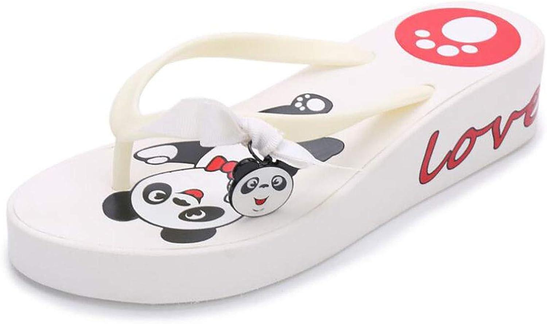Beach Wedge Ladies Slipper Tie Panda Non-Slip Summer Flip Flops
