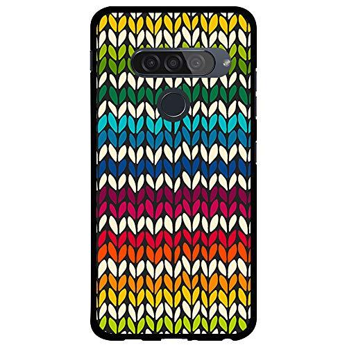 BJJ SHOP Funda Negra para [ LG G8s / LG G8 Smart ], Carcasa de Silicona Flexible TPU, diseño : Pintura de Colores