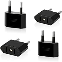 AIEVE 4 stuks US naar EU reisstekker USA voor 2-pins Euro/Duitsland stekker Amerika/Canada/Mexico stekker adapter converte...