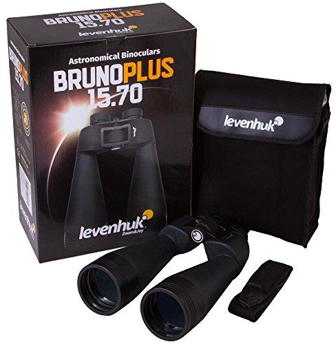 Prismáticos de Astronomía Levenhuk Bruno Plus 15x70 de Gran Aumento para Observar Las Estrellas, con Lentes con Revestimiento Múltiple Completo y Cuerpo Sellado