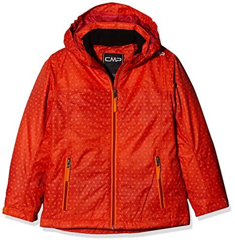 CMP Giacca Feel Warm Flat 5.000 39w2085, Bambina, Bitter-Granita-Orange, 152