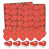 Kerzensets 100 Liebe Herz ,Teelichter Rot Rauchfreie, Herzform Romantische Kerzens,Kerzen Deko Für Valentinstag, Vorschlag, Hochzeit,JubiläUm, Verlobung,...