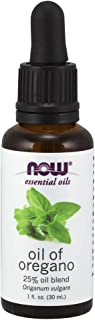 NOW Essential Oils, Oil of Oregano, 25% Blend of Pure Oregano Oil in Pure Olive Oil, Comforting Aromatherapy Scent, Steam ...