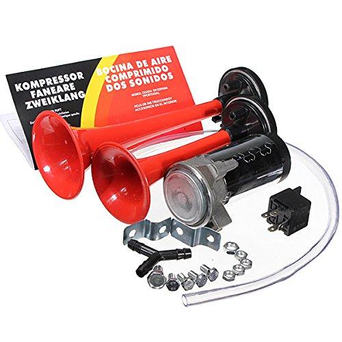 C-Funn 12 V 135 dB Loud Dual Trompet Air Horn Kit voor motorfiets auto boot