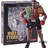 WXxiaowu Rey del Boxeo Mike Tyson Figura Boxer con 3 esculturas de Cabeza 1/12 Escala Figura de acción Storm Collectibles Modelo de Juguete