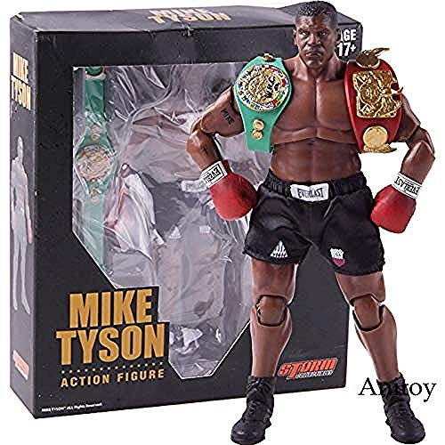 WXxiaowu King of Boxing Mike Tyson Figur Boxer mit 3 Kopfformen 1/12 Action Figure Storm Collectibles Modell Spielzeug