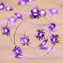 Purple spider string lights
