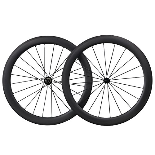 IMUST 700C Carbono Carretera Bicicleta 55 mm Clincher Tubeless Ready Rueda Powerway Hub R13 CN Habl¨®