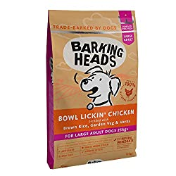 "100% NATURAL FREE-RUN CHICKEN - Our Bowl Lickin' Chicken dry dog food is made for large breed dogs with 100% natural free-run chicken blended with a seriously yummy combination of garden veg and herbs, this chicken dinner isn't called ""Bowl Lickin"" f..."