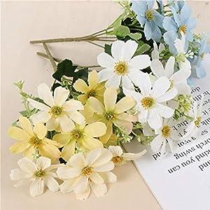 Artificial and Dried Flower MagiDeal Artificial Silk Cosmos Flower Bouquet for Wedding Decor Flower-Blue