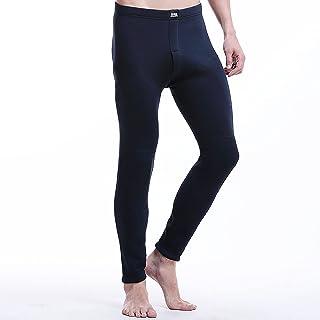 WHSPORT Men' s Thermal Underwear Bottoms, Fleece Lined Long Leggings Winter Sports Hiking Work Wear Brushed Warming (Color...