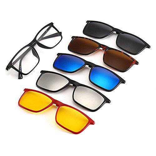 Memoryee Unisex Retro 5Pcs Gafas de sol polarizadas