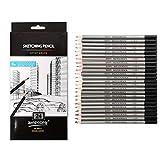 24pcs crayons de dessin ensemble, crayon dessin art graphite crayon graphite H a 14B crayon 9h 8h 7h 6h 5h 4h 3h 2h h HB FB 2b 3b 4b 5b 6b 7b 8b 9b 10b 11b 12b 14b 14b