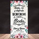 Decoración Boda | Cartel Boda Baila Flores | 70cm x 150cm