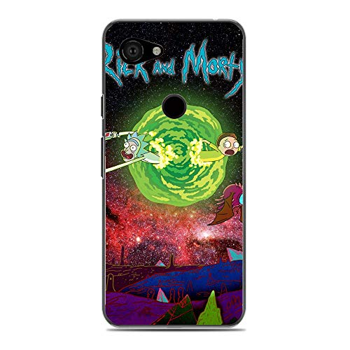 Jialan Soft Clear Coque Transparent Anti-Slip Shockproof Case Cover For Google Pixel 3A(3 Lite)-Rick-Morty Cartoon 8