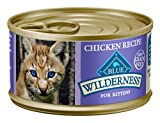 Blue Buffalo Wilderness High Protein Grain Free, Natural Kitten Pate Wet Cat Food, Chicken 85g cans (Pack of 24)