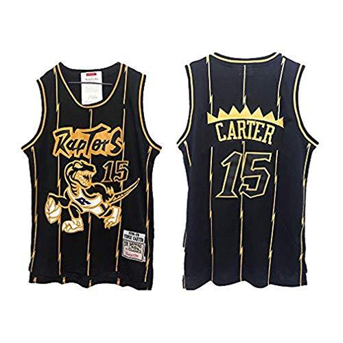 NBA Toronto Raptors 15# Vince Carter Vintage All-Star Jersey, Camiseta de Hombre y Unisex Shorts de Baloncesto Jersey (Talla: S, M, L, XL, XXL) (C,L)