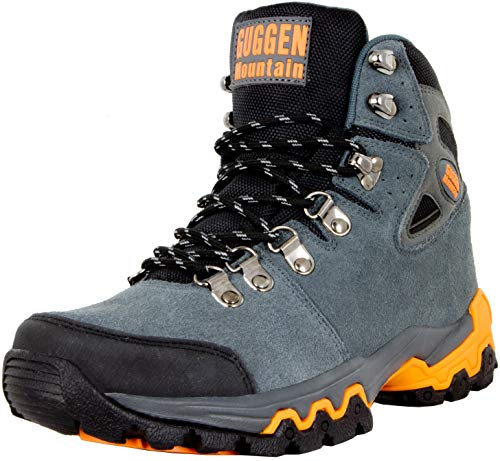 GUGGEN Mountain M008v2 Herren Bergschuhe Wanderschuhe Wanderstiefel Outdoor Schuhe Trekkingschuhe, Grau, EU 45