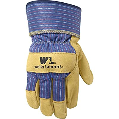 Heavy Duty Grain Leather Work Gloves with Safety Cuff