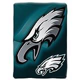 Officially Licensed NFL Philadelphia Eagles 'Bevel' Micro Raschel Throw Blanket, 60' x 80', Multi Color