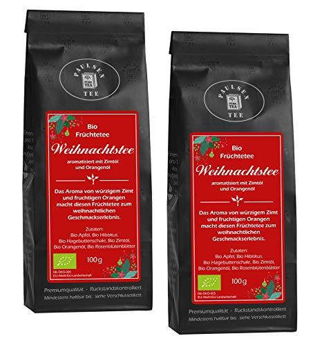 Bio Weihnachtstee 2 x 100g (49,75 Euro / kg) Paulsen Tee Früchtetee rückstandskontrolliert & zertifiziert
