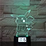 Lampe Illusion, Veilleuse Colorée À Del Dégradé, Lampe De Base En Acrylique Avec Réveil 3D, Lampe D'Ambiance À Motif...