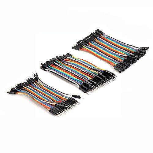 ILS - 3 in 1 120 stuks 10cm mannelijke naar vrouwelijke aansluiting op bus voor mannenjumper-kabel voor Arduino