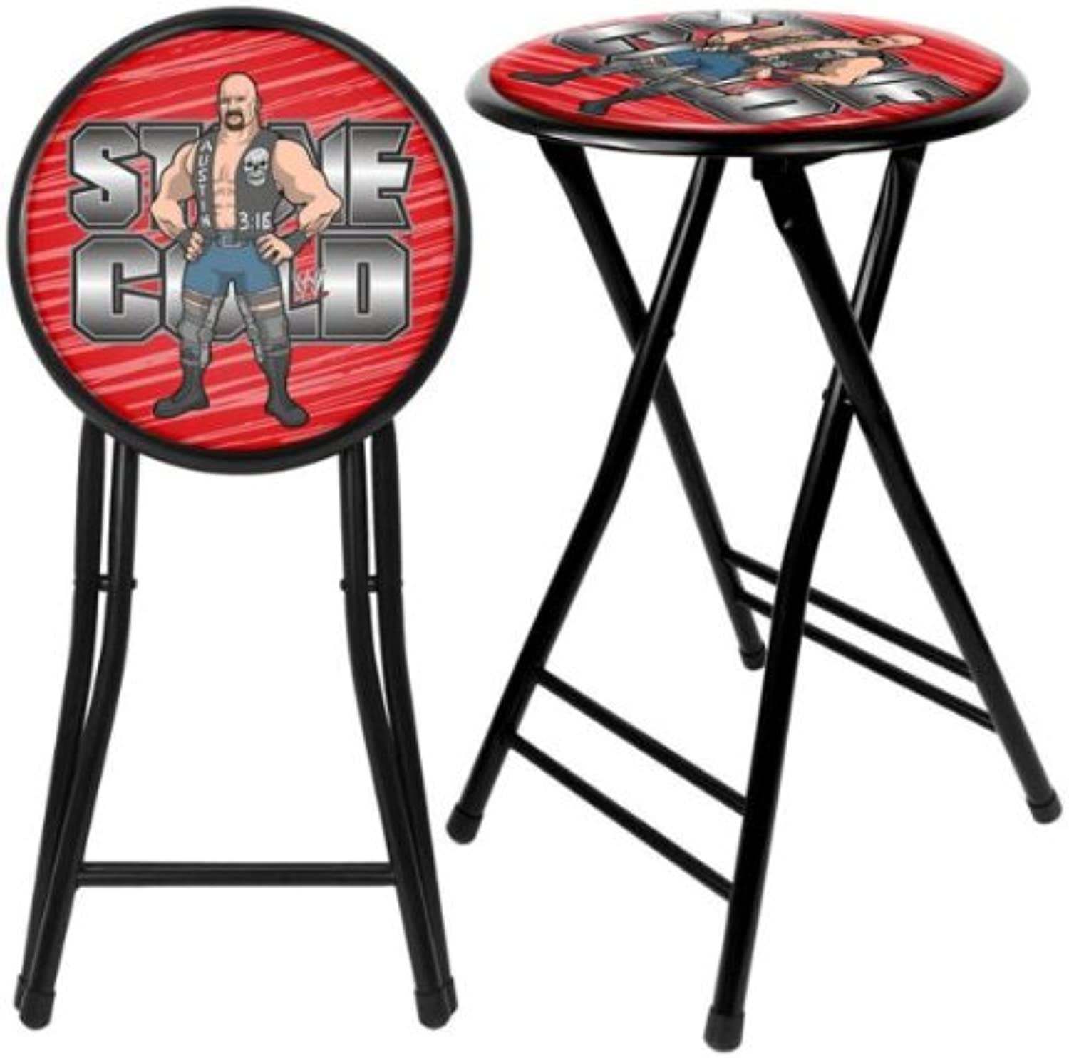 Trademark Games Kid's WWE Stone Cold 24-Inch Cushioned Stool