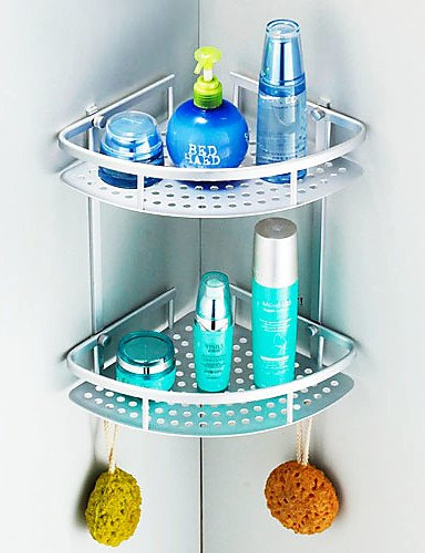KHSKX Triangular Bathroom Glass Shelf Toilet Shelf