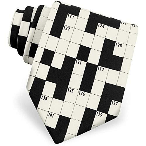 WILHJGH Die Kreuzworträtsel-Krawatte der Männer durch Spaß-Krawatten im Schwarzen