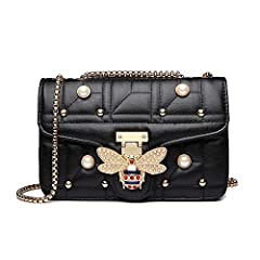 Made of durable PU leather with good sense of touch Size: 9.05 * 3.15 * 9.51 inch Our handbag contains one large main pocket and another two small side pocket inside, all can be easily opened . you can have your make up, phones, wallets and keys and ...