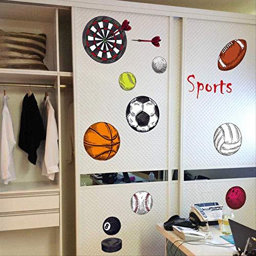 Junge Sportball Fußball Basketball Volleyball Schlafsaal Wandaufkleber Dartscheibe Tennis Klassenzimmer Layout Dekoration Aufkleber