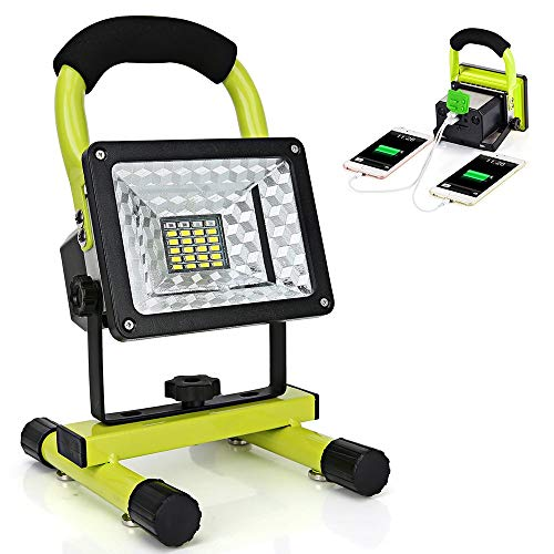 LED Work Light with Magnetic Stand 15W 24 LED Rechargeable Shop...