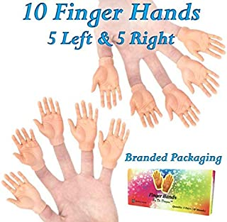 DR DINGUS Finger Hands Finger Puppets in Gift Box (10 Hands / 5 Pairs) - Novelty Fun for Whole Family